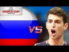 Aaron Russell in match USA - Russia