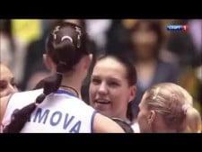 Ekaterina Gamova in match Russia - Brazil