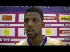 Kevin Kaba in match Arago de Sete - Paris Volley