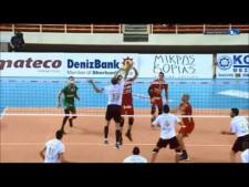 Krisztián Pádár in match Thessaloniki - Maaseik