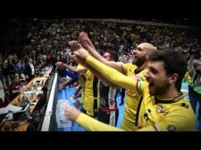 Modena Volley celebration after Italian Cup 2015/16