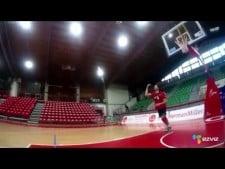 Todor Skrimov serve in slow motion