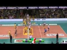 Earvin N'Gapeth 2nd meter spike (Modena - Padova)
