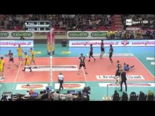 Earvin N'Gapeth spike from the 5th meter (Padova - Modena)
