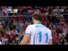 Andrey Ashchev spike under the net (Kazan - Trentino)