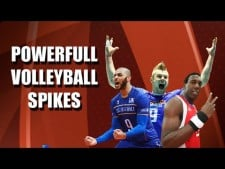 The Most Powerful Volleyball Spikes