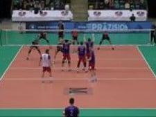 Bryan Fraser in match Rhein-main volley - Berlin Volleys