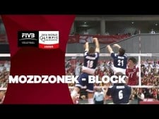 Poland three blocks in one action (Poland - Japan)