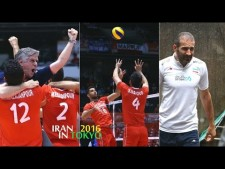 With the Iran national team In the Olympics Qualification 4