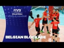 Belgium 4 blocks in one action (Italy - Belgium)