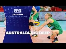 Australia digs (Australia - Belgium)