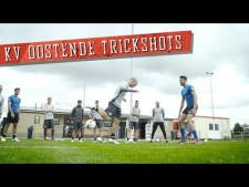 Soccer trick shots with KV Oostende