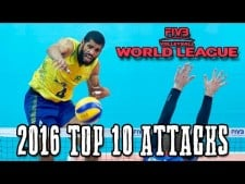TOP10 Best Spikes in World League 2016