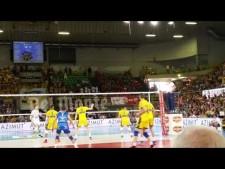 Earvin N'Gapeth 1st meter spike (Modena - Trentino)