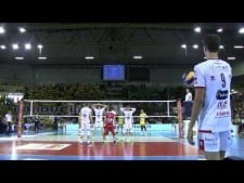 Simone Giannelli great actions in match Modena - Trentino