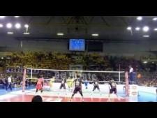 Earvin N'Gapeth amazing action (Modena - Perugia)