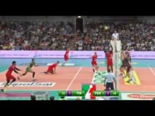 Raydel Hierrezuelo great action (Piacenza - Perugia)