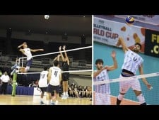 Volleyball hits during warm-up (3rd movie)