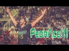 Michele Fedrizzi aces in match Padova - Molfetta