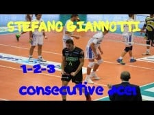 Stefano Giannotti aces in match Latina - Padova