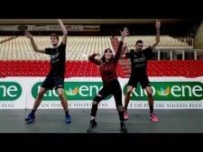 Pallavolo Padova players dance