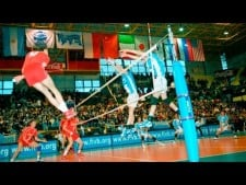 TOP 50 Best Volleyball Attacks Over The Line | Line Spike |