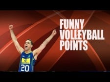 Funny and lucky volleyball points