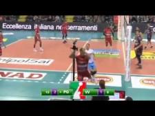Luciano De Cecco amazing action (Perugia - Valentia)