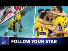 Earvin N'Gapeth in match Modena - Rzeszów