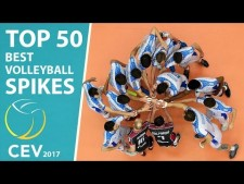 TOP 50 Best Volleyball Spikes CEV 2017