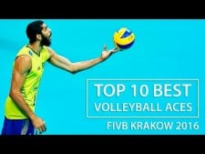 TOP 10 Best Volleyball Aces | FIVB KRAKOW 2016