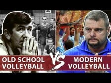Old and modern volleyball