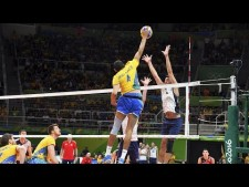 TOP 20 Powerful Volleyball Spikes Over The Block