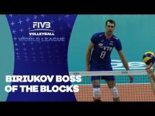Denis Biryukov 3 blocks in match Russia - Bulgaria