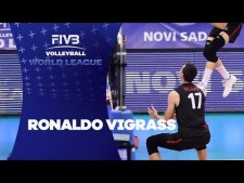 Graham Vigrass leg dig (Canada - Serbia)