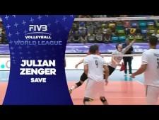 Julian Zenger great dig (Germany - Venezuela)