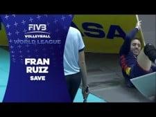 Francisco Ruiz spectacular save (Spain - Greece)