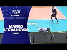 Marko Stevanovic spectacular dig