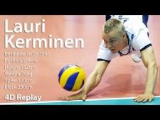 TOP 20 Volleyball Defense Actions | Lauri Kerminen