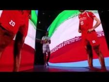 Iran national team log to Stadium