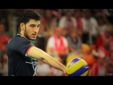 Two continuous powerful serve by Manavinejad