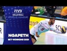 Earvin N'Gapeth set winning dig!