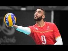 Earvin N'Gapeth 3 aces in a row (Belgium - France)