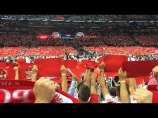 Polish anthem in National Stadium (EuroVolley 2017)
