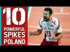 TOP 10 The Most Powerful Volleyball Spikes | Poland | FIVB V