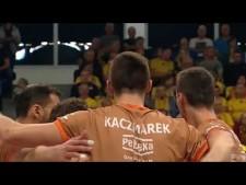 Łukasz Kaczmarek single block in first action