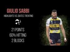 Giulio Sabbi in match Trentino - Modena
