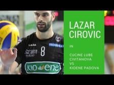 Lazar Cirovic great action (Macerata - Padova)