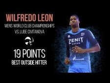Wilfredo Leon in match Macerata - Kazan