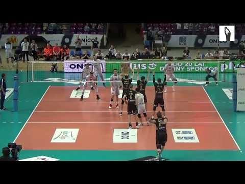 Grzegorz Bociek huge serve (Warsaw - Zawiercie)